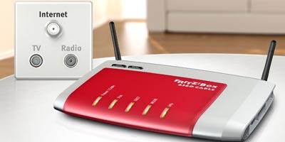 Kabel Deutschland Firmenkunden: 100 Mbit + Business-Box AVM 6360