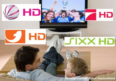 KabelBW mit HD+ Sendern Pro7 HD, Sat.1 HD, Kabel1 HD und sixx HD