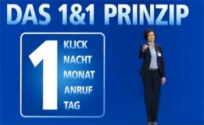 1&amp;1 Prinzip: der neue Werbespot / Fernsehwerbung zum 1und1 Prinzip